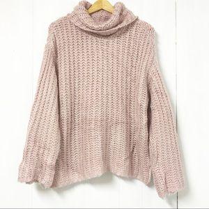 RD Style Blush Pink Turtleneck Knit Sweater Size S